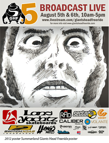 Poster for this years Giants Head Freeride – Summerland BC