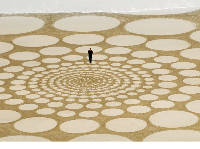 Jim Denevan - sand drawing California