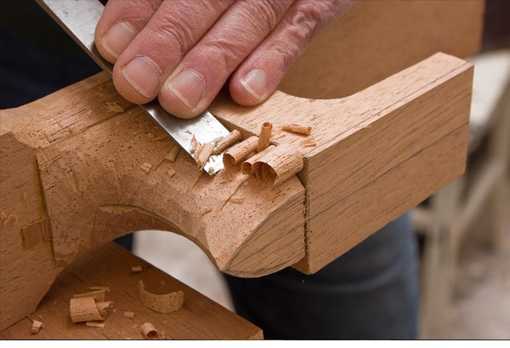 John Park making a guitar in his workshop