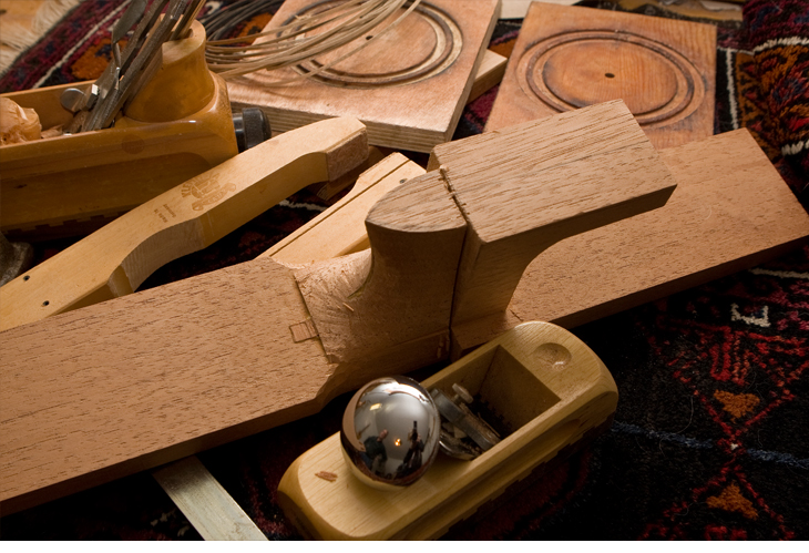 tools used for hand making guitars