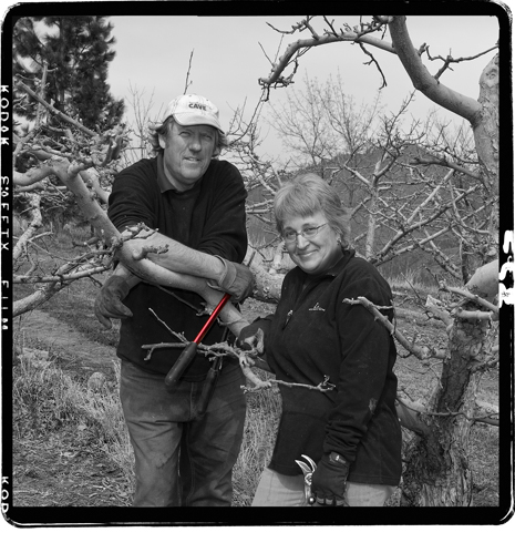 Denise and Richard MacDonald - orchardists