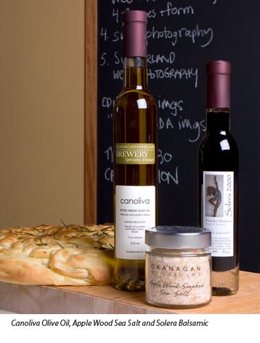Okanagan Vinegar Brewery Olive Oil, Sea Salt and Balsamic Vinegar