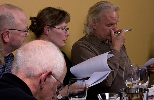 Summerland Online – Riesling Blind Wine tasting - judges focussed on the BC Rieslings