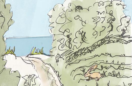 watercolor of Prince Edward Island Cavendish Beach