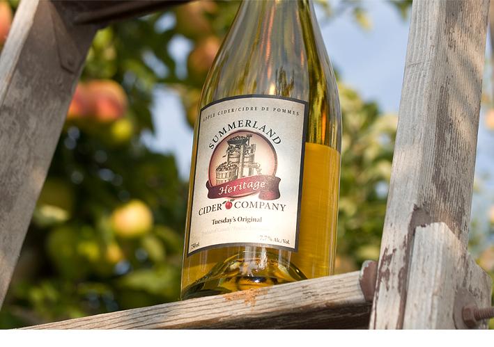 Bottle of Summerland Heritage Cider Company's cider