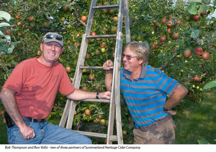 Summerland Heritage Cider and co-owners Bob Thompson and Ron Vollo