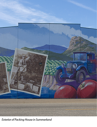 Mural by Larry Hunter on Summerland Packing House wall