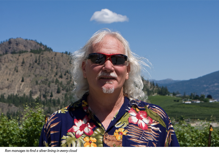 Ron Watkins winemaker in Summerland, BC – Cloud with a silver lining