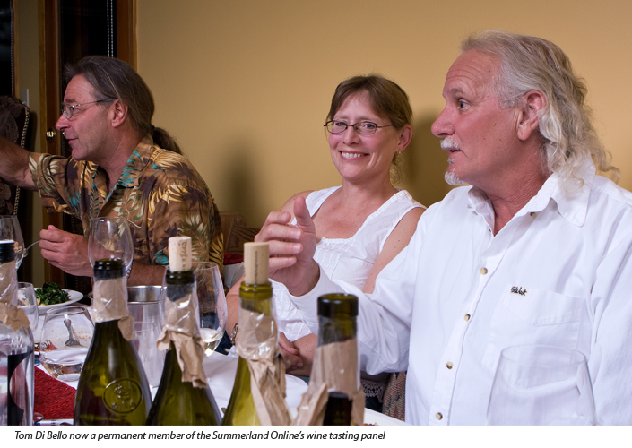 Winemakers Tom Di Bello, Kathy Malone and Ron Watkins in Summerland, BC